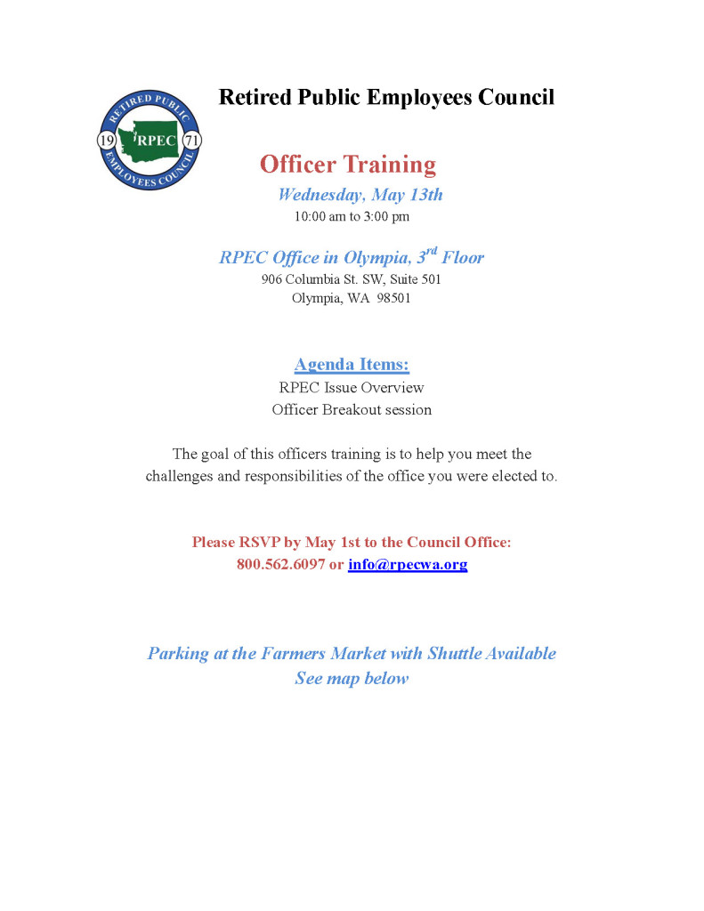 Officer Training @ RPEC Council Office - 3rd Floor | Olympia | Washington | United States
